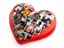 heart photo cushion of love
