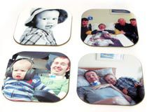 personalized photo coasters