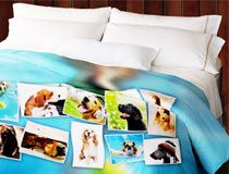 Designer bedding photo duvet pillow covers