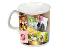 montage on bone china mug