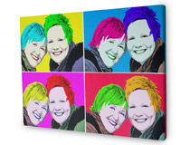 photo gift canvas popart
