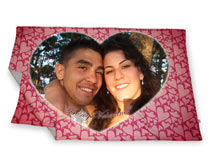 Personalised Valentines Blanket