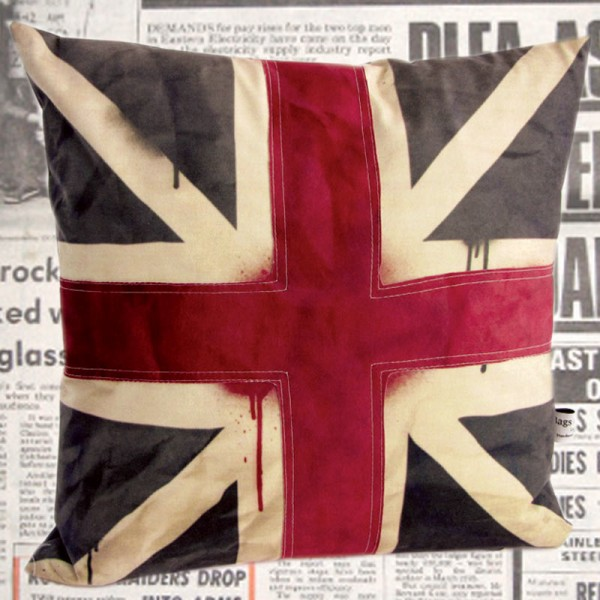 cushion with the union jack flag