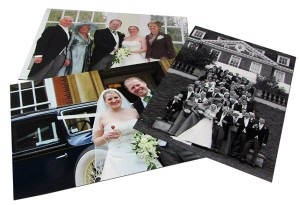 Three wedding photo poster prints