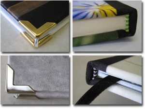 Corner protectors and binder of photo books