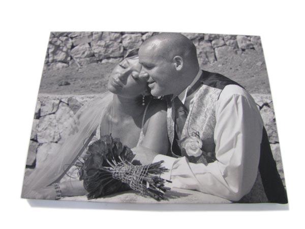 Black And White Wedding Photo Canvas