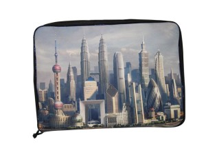 London Image Printed On A Lapstop Bag