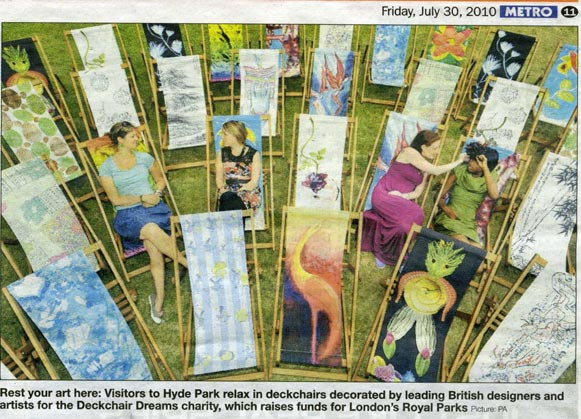 Pattern deckchairs from Metro article image
