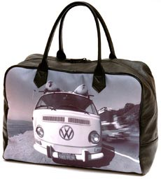 A car on a black holdall bag