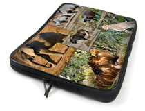 Safari images on a black laptopbag
