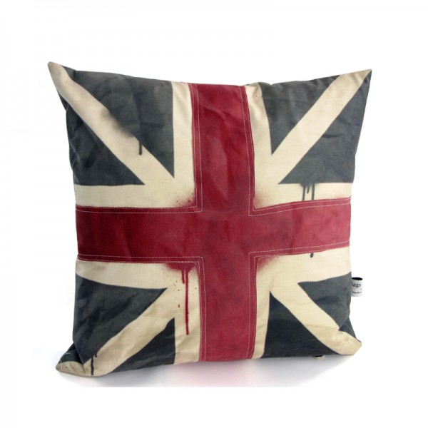 Union jack flag on a cushion