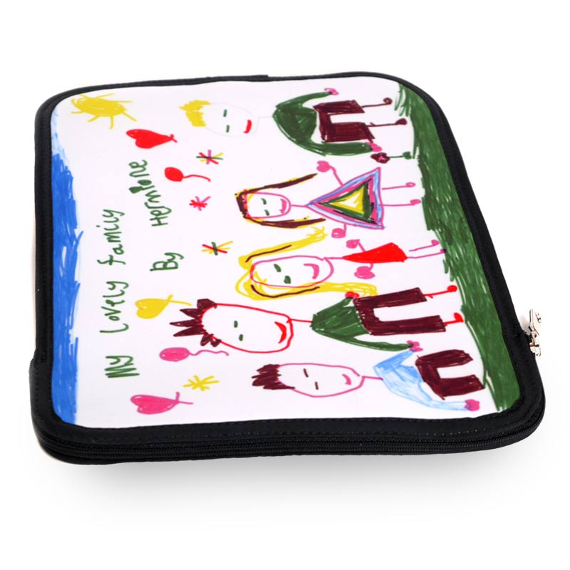iPad case with children's drawing on it