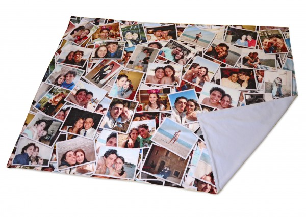 Photo montage on a blanket