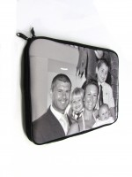 laptop bag in black and white