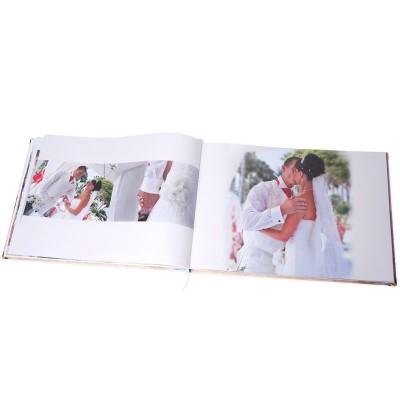 Wedding photos in an open photo book