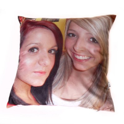Two girls on a cushion