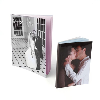 Two photo cover notebooks of couples