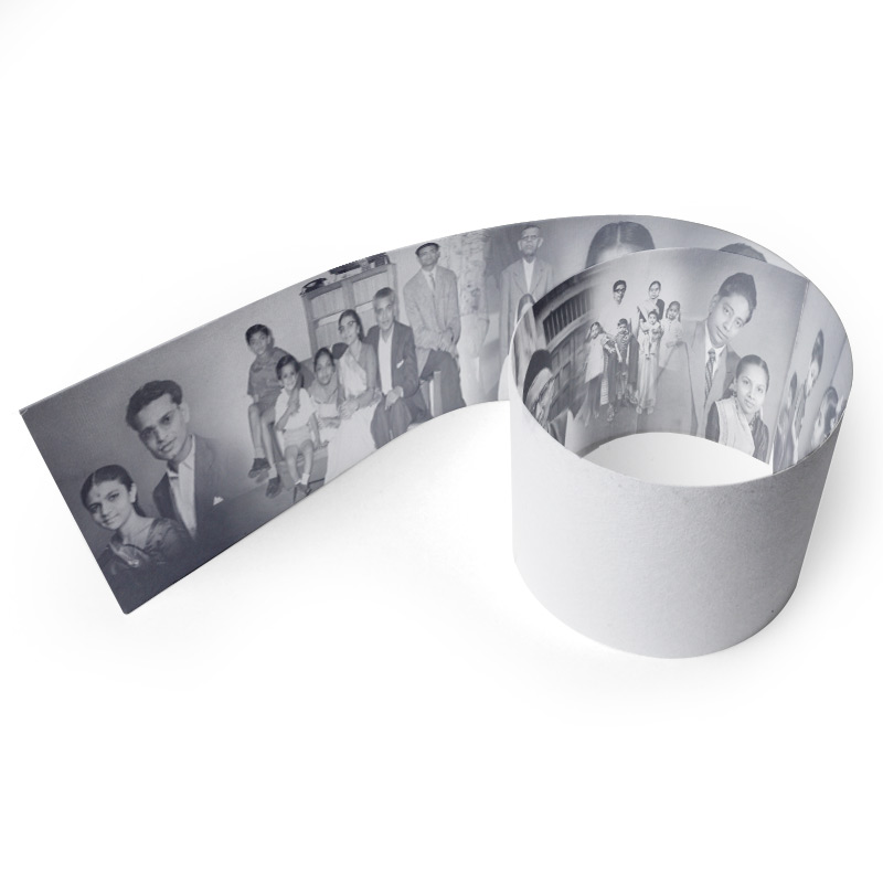 Black And White Paper Border With Photos