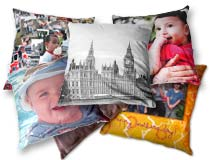 a selection of photo cushions