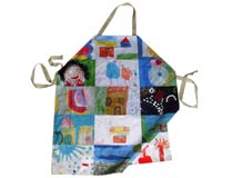 personalised apron with a montage