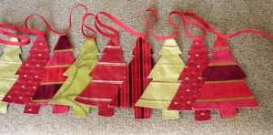 Personalised Christmas tree decorations bunting generic