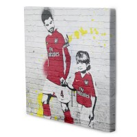 Amazing Christmas Gifts banksey digital photo pop art football player & kid