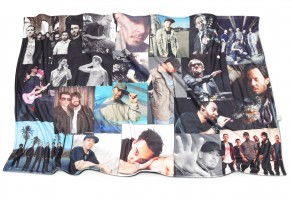 Personalised Christmas gifts for him montage blanket of men