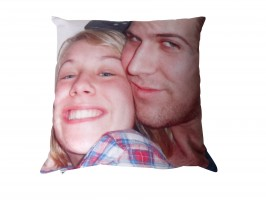 Photo Cushion with boyfriend and girlfriend