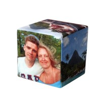 Christmas Gifts for Fathers photo cube with couple and travels