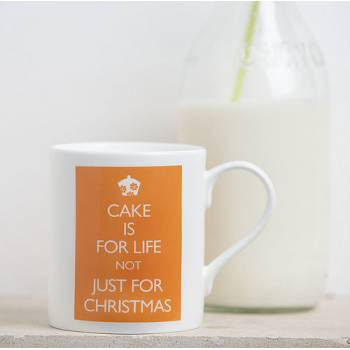 Personalised mugs and coasters, cake for life not just for Christmas