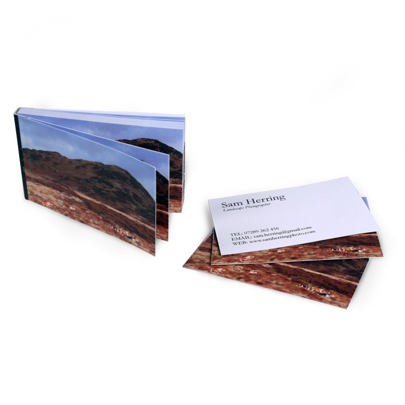 Personalised Business Cards business-card-booklet sam herring ...