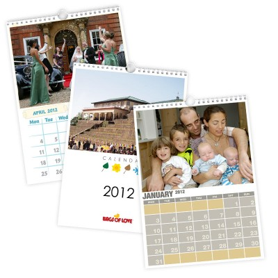 A5 Personalised photo calendars 2012