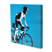 Christmas gifts for fathers Che style canvas with bicycler