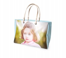 Christmas gifts for mothers handbag with little girl blue eyes