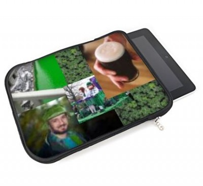 iPad slip case with a photo montage of st. patrick's day photos