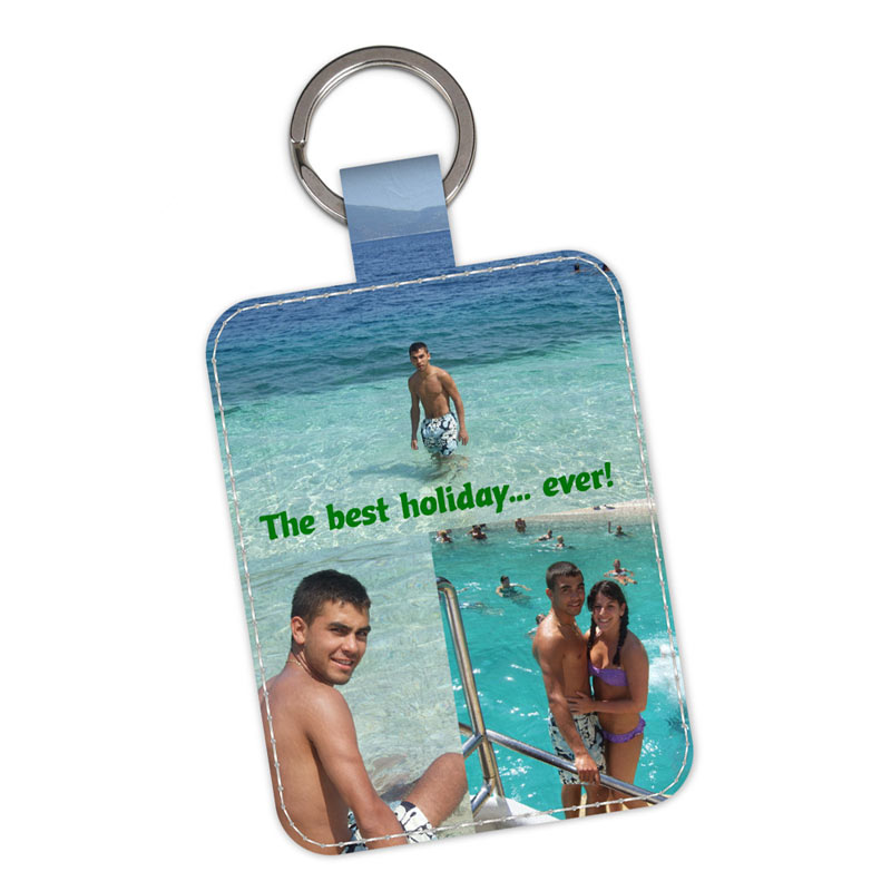 Leather keyring with your photos, from Bags of Love.