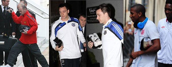 footballers with washbag from bagsoflove