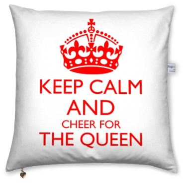 Cushion with own text with the Keep calm design