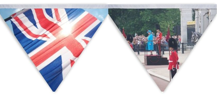 diamond jubilee bunting designed with own pictures