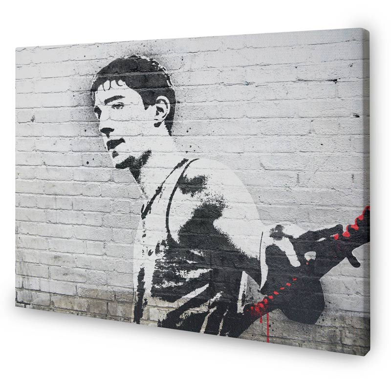 canvas photo in style of banksy