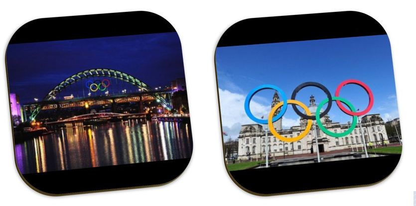 personalised photo coasters for olympic gifts