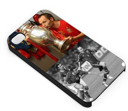 personalised iphone case with Iniesta