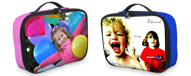 personalised photo kids lunch bags