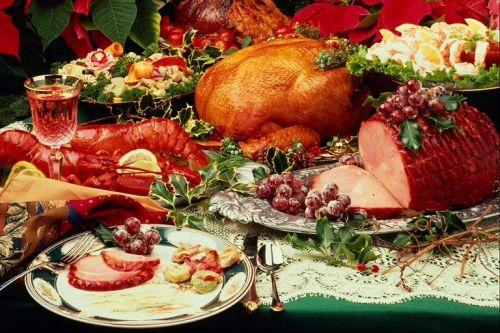 christmas ham dinner table - photo #2