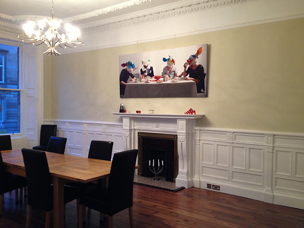 photo canvas prints dining room