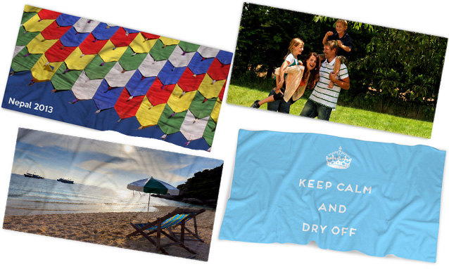 custom printed personalised photo towels