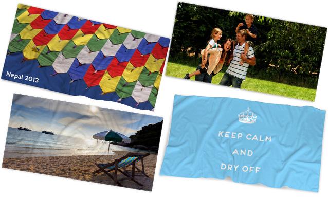 custom printed personalised photo towels