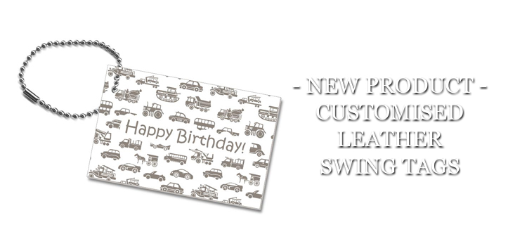 NEW PRODUCT CUSTOMISED LEATHER SWING TAGS