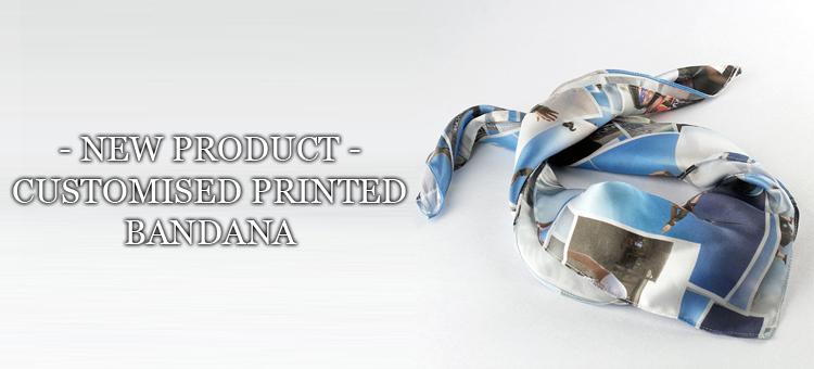 new product customised printed bandana