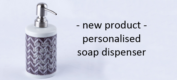 personalised soap dispenser